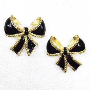 Kenneth Jay Lane KJL for Avon Bow Stud Earrings